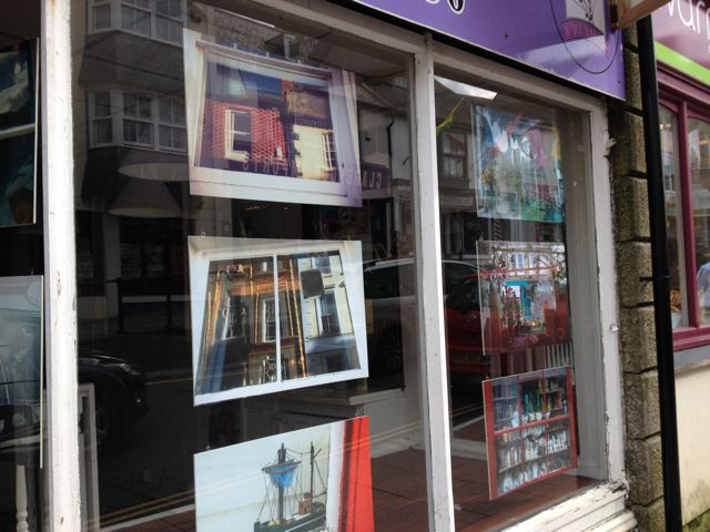 Pictures in empty shop windows